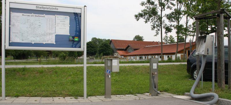 Ver- und Entsorgungsstation p+r Parkplatz Bahnhof
